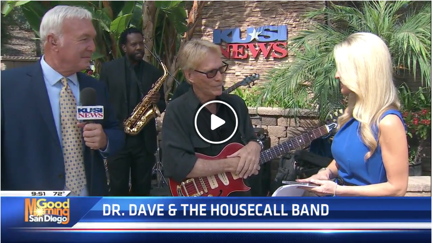 Dr. Dave & The HouseCall Band on KUSI News